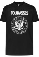 Fourasses T-Shirts Senomar black Vorderansicht
