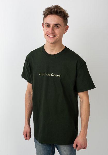 Sour Solution T-Shirts Sour Script bottlegreen vorderansicht 0320097