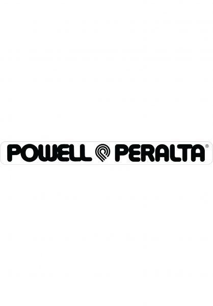 """Powell-Peralta Verschiedenes Strip Sticker 4"""" clear-black vorderansicht 0972474"""