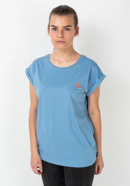 Ezekiel T-Shirts Melon dustyblue vorderansicht 0322325