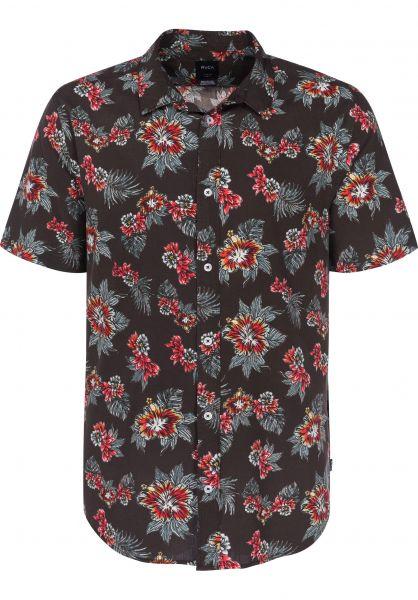 RVCA Hemden kurzarm Mc Millan Floral blackfloral Vorderansicht