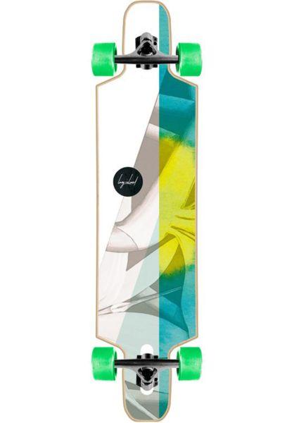 "Long Island Longboards komplett Green Tea Essential 37"" DT multicolored-blue vorderansicht 0194264"