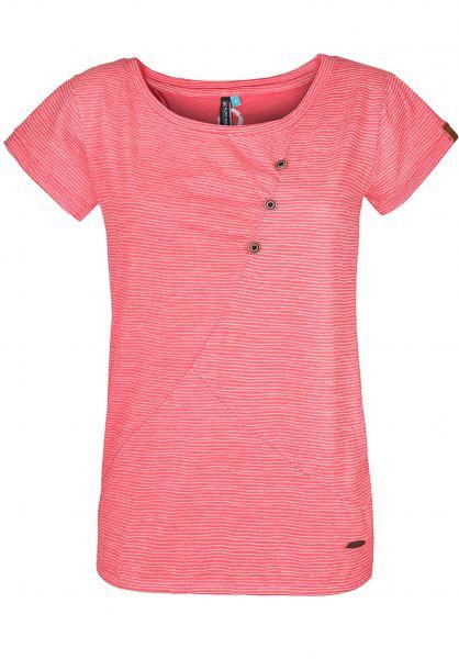 alife-&-kickin T-Shirts Zoe fuchsia-stripes Vorderansicht