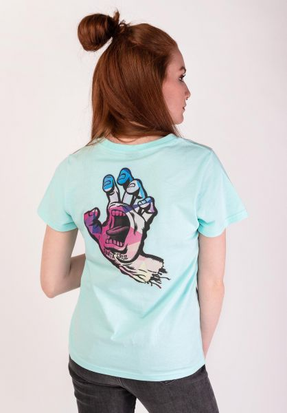 Santa-Cruz T-Shirts Screaming Hand Mosaic sky vorderansicht 0399438