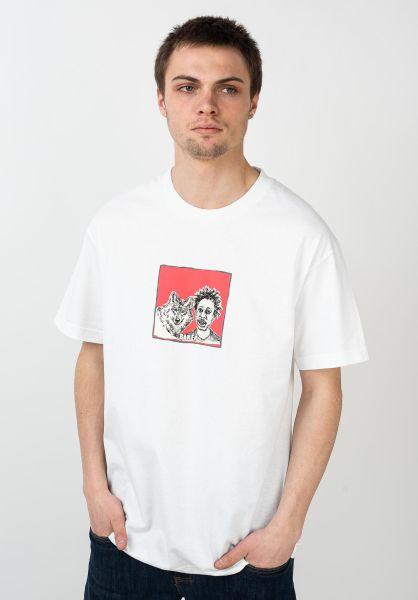 Baker T-Shirts Wolf white vorderansicht 0321749