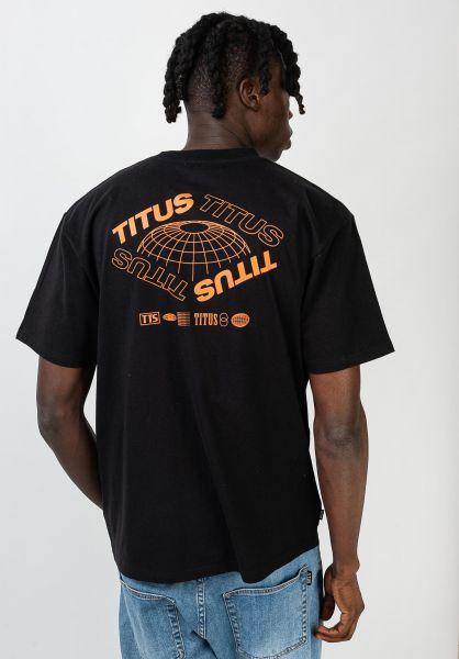 TITUS T-Shirts Future-Backprint black vorderansicht 0320161