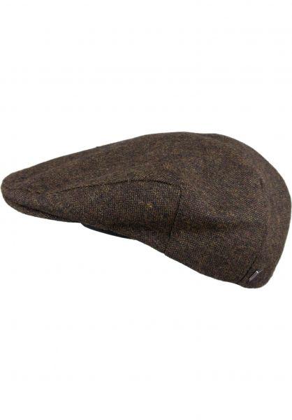 Brixton Hüte Hooligan darkbrown Vorderansicht