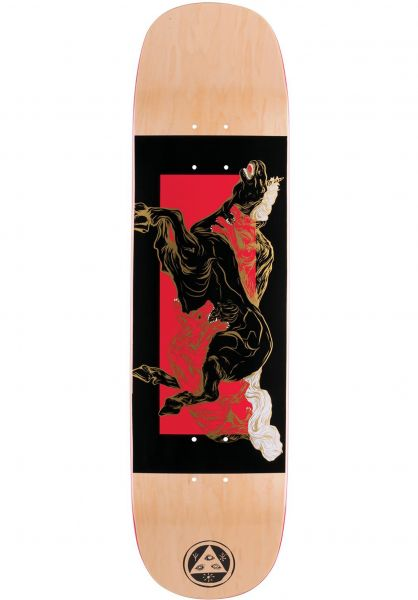 Welcome Skateboard Decks Goodbye Horses Amulet black-red Vorderansicht