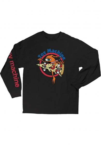 Toy-Machine Longsleeves Pizza Sect black vorderansicht 0383641