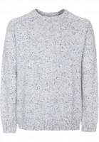Reell-Strickpullover-Knitted-Speckle-Crewneck-grey-Vorderansicht