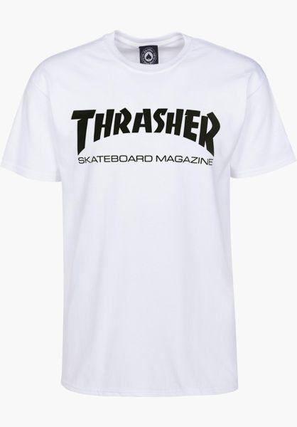 Thrasher T-Shirts Skate-Mag white vorderansicht 0038081