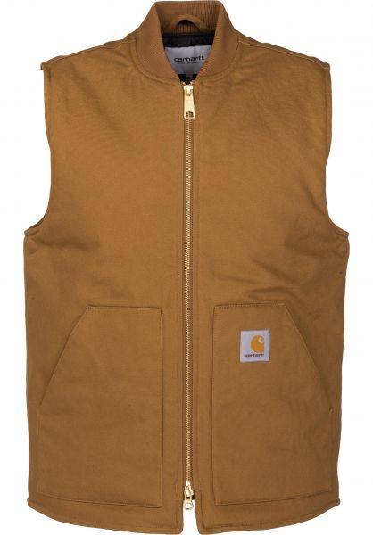 Carhartt WIP Westen Vest hamilton-brown-rigid Vorderansicht