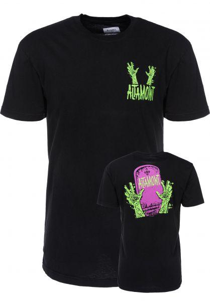 Altamont T-Shirts Grave Dig black Vorderansicht