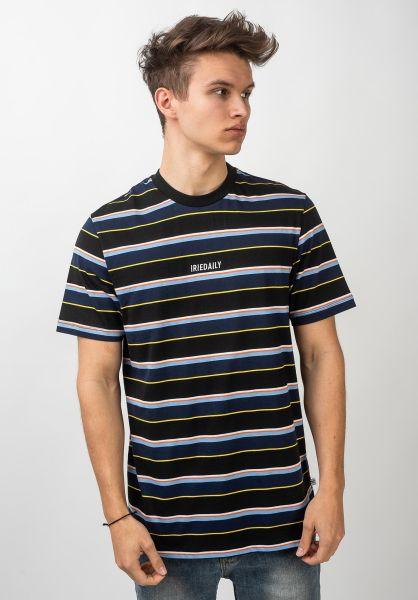 iriedaily T-Shirts Tony Stripe black vorderansicht 0399720