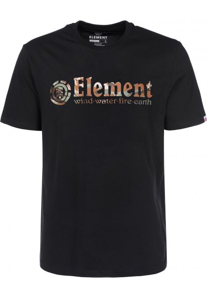 Element T-Shirts Horizontal flintblack Vorderansicht