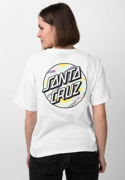 Santa-Cruz T-Shirts Primary Dot Wmn white vorderansicht 0321208