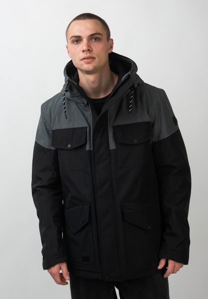 Reell Winterjacken Field Jacket 2 darkgrey-black vorderansicht 0250031