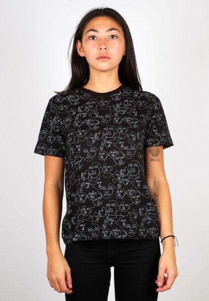 Dedicated T-Shirts Mysen Faces black vorderansicht 0398675