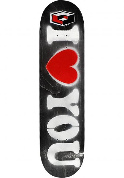 Consolidated Skateboard Decks I Love You Stencil Limited Edition natural Vorderansicht