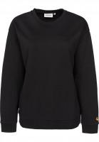 Carhartt WIP Sweatshirts und Pullover W' Chase black-gold Vorderansicht