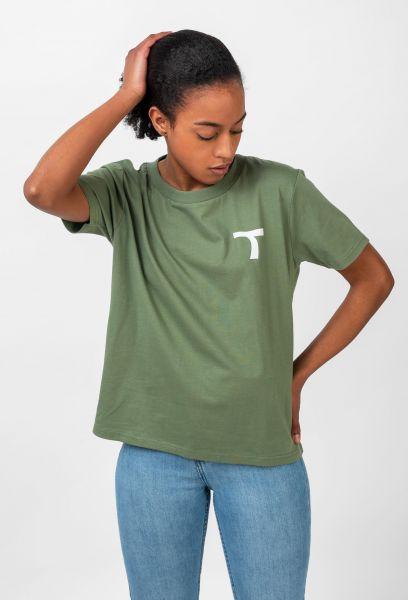TITUS T-Shirts Coco olive vorderansicht 0320810