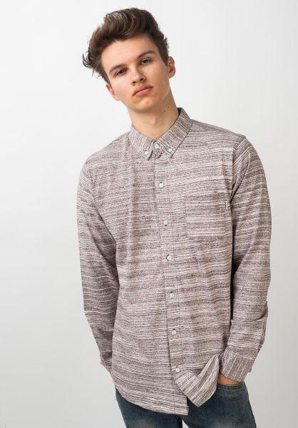 Wemoto Hemden langarm Shaw burgundymelange vorderansicht 0411880