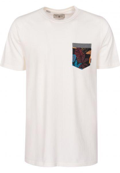 Billabong T-Shirts All Day Print Pocket salt Vorderansicht