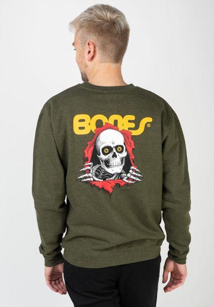 Powell-Peralta Sweatshirts und Pullover Ripper armyheather vorderansicht 0422757
