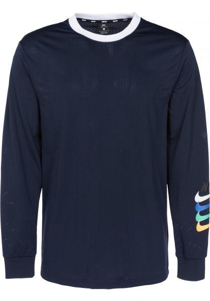 Nike SB Longsleeves Dry Top GFX obsidian-black Vorderansicht