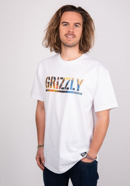 Grizzly T-Shirts Stamped Scenic white vorderansicht 0399975