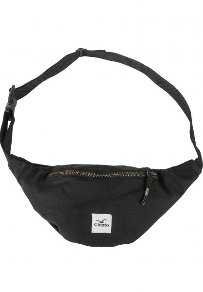 Cleptomanicx Hip-Bags Hemp black vorderansicht 0891087