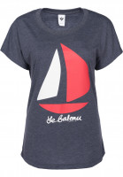 Ezekiel T-Shirts Bateau Dolman heathernavy Vorderansicht