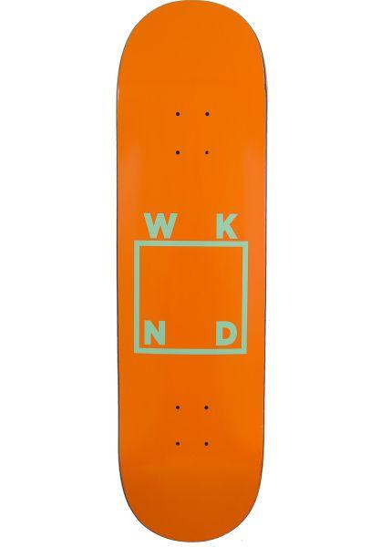 WKND Skateboard Decks Logo orange vorderansicht 0116200