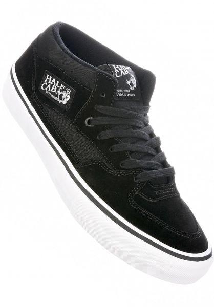 d5adbb6ada Vans Alle Schuhe Half Cab Pro black-black-white Vorderansicht