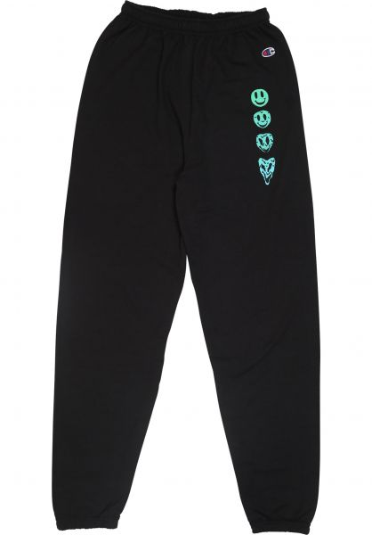 Lurk Hard Jogginghosen Acid Champion Sweatpant black vorderansicht 0680209