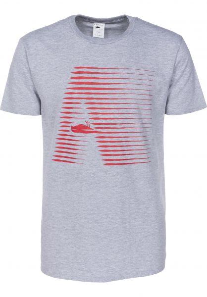 Atticus T-Shirts Radiate heathergrey Vorderansicht