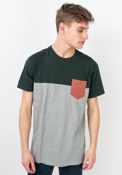 iriedaily T-Shirts Block Pocket silver-hunter vorderansicht 0394022