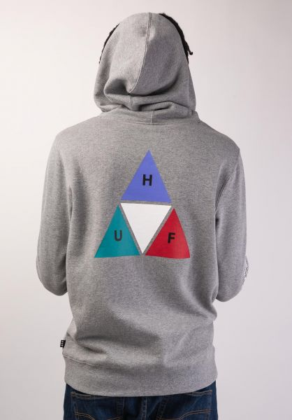HUF Hoodies Prism TT greyheather vorderansicht 0445380