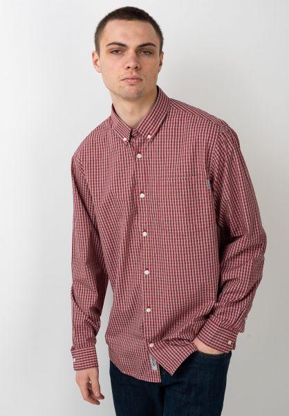 Carhartt WIP Hemden langarm Allstair Shirt alistaircheck-etnared vorderansicht 0411986