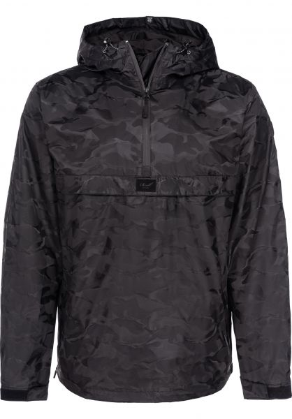 Reell Windbreaker Hooded Windbreaker black-camo Vorderansicht