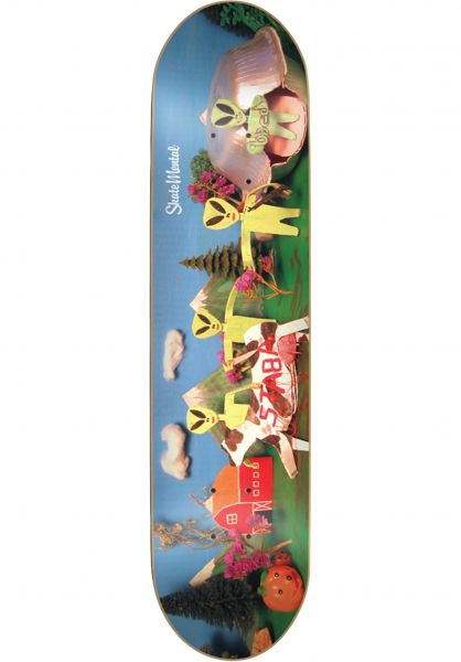 Skate-Mental Skateboard Decks Staba Coast To Coast multicolored Vorderansicht