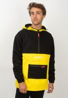 goodbois-windbreaker-united-double-pocket-anorak-black-yellow-vorderansicht-0122636