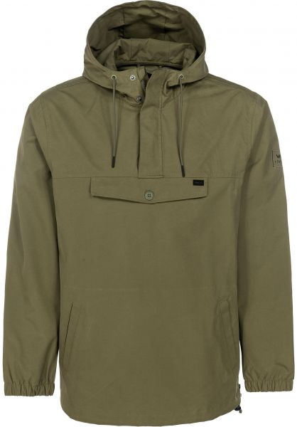 RVCA Windbreaker On Point Anorak fatigue vorderansicht 0122462