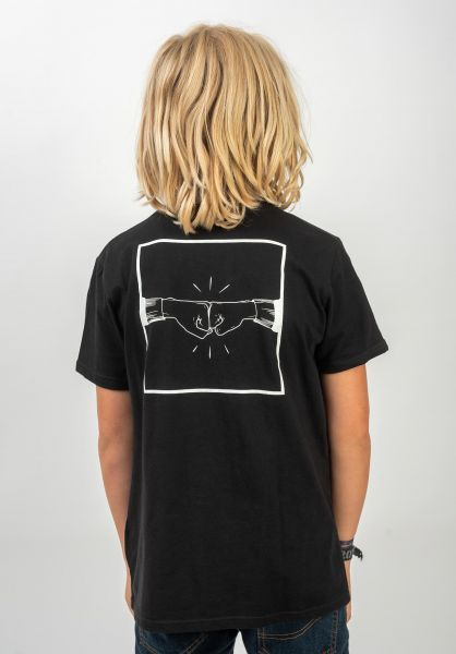 TITUS T-Shirts Emin Kids Backprint black vorderansicht 0399250