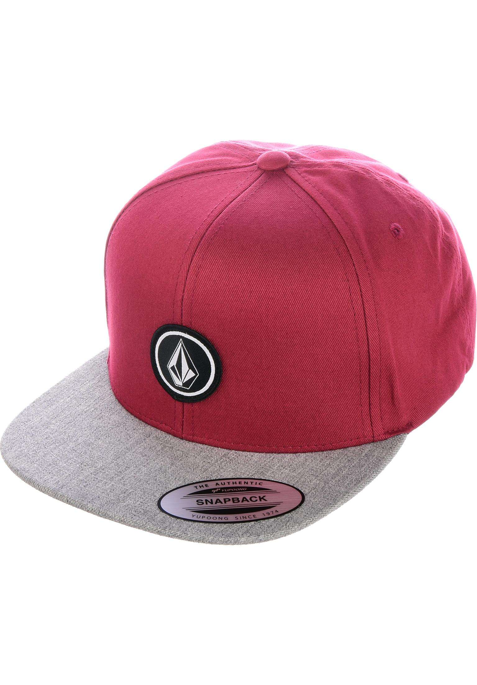 newest 21d56 b29c9 Quarter Twill Volcom Caps in burgundy for Men   Titus