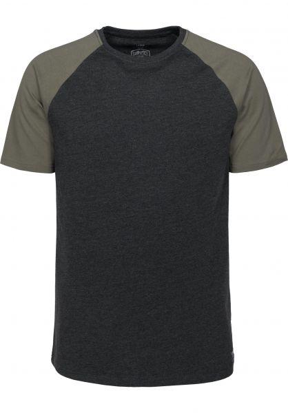 TITUS T-Shirts Alec darkgreymottled-olive Vorderansicht
