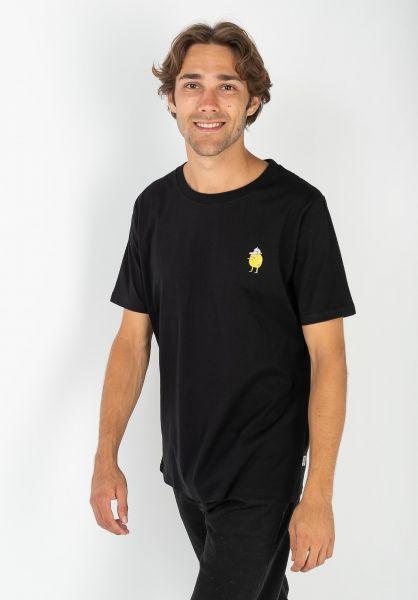 Cleptomanicx T-Shirts Zitrone black vorderansicht 0364501
