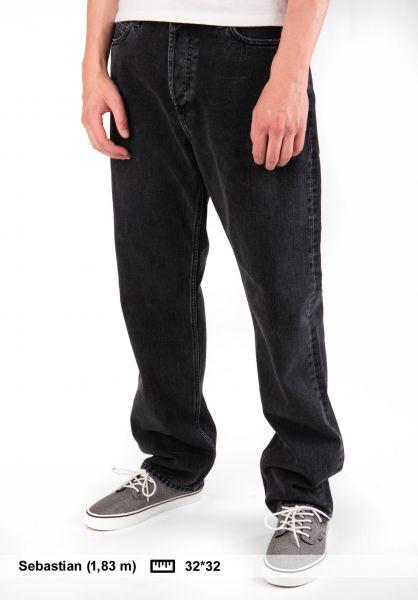 Carhartt WIP Jeans Marlow Pant (Maitland) blackstonewashed Vorderansicht