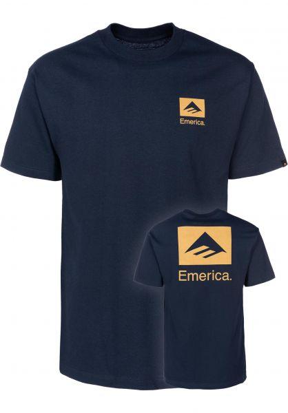 Emerica T-Shirts Brand Combo FW18 navy vorderansicht 0399385