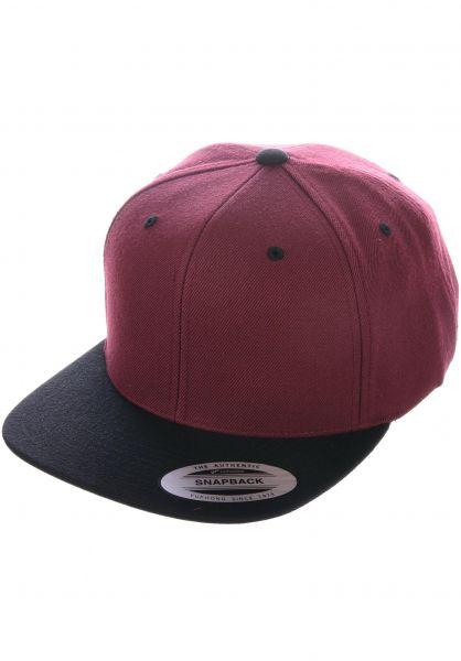 Flexfit Caps Snapback Cap maroon-black vorderansicht 0566389
